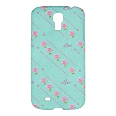 Flower Pink Love Background Texture Samsung Galaxy S4 I9500/i9505 Hardshell Case