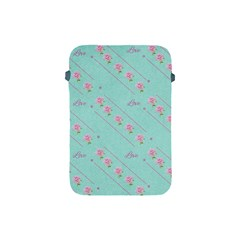 Flower Pink Love Background Texture Apple iPad Mini Protective Soft Cases