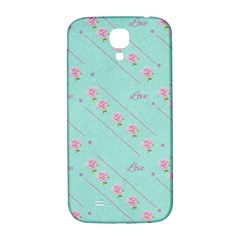Flower Pink Love Background Texture Samsung Galaxy S4 I9500/I9505  Hardshell Back Case
