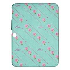 Flower Pink Love Background Texture Samsung Galaxy Tab 3 (10.1 ) P5200 Hardshell Case