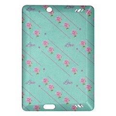 Flower Pink Love Background Texture Amazon Kindle Fire Hd (2013) Hardshell Case
