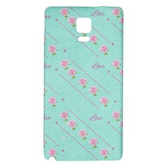 Flower Pink Love Background Texture Galaxy Note 4 Back Case