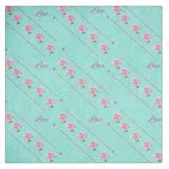 Flower Pink Love Background Texture Large Satin Scarf (Square)