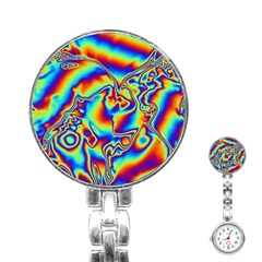 Kissing Rainbow Stainless Steel Nurses Watch