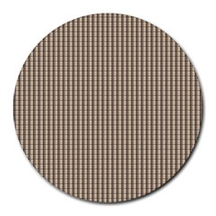 Pattern Background Stripes Karos Round Mousepads