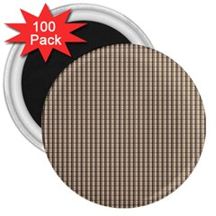 Pattern Background Stripes Karos 3  Magnets (100 pack)