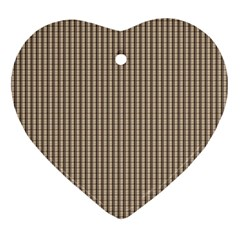 Pattern Background Stripes Karos Heart Ornament (two Sides)