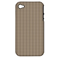 Pattern Background Stripes Karos Apple Iphone 4/4s Hardshell Case (pc+silicone)