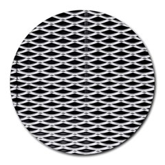 Expanded Metal Facade Background Round Mousepads