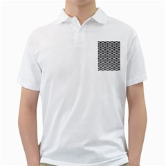 Expanded Metal Facade Background Golf Shirts