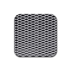 Expanded Metal Facade Background Rubber Square Coaster (4 Pack)