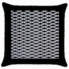 Expanded Metal Facade Background Throw Pillow Case (black)