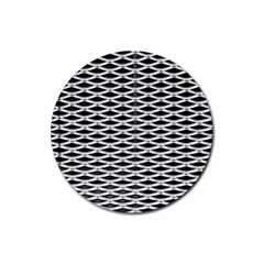 Expanded Metal Facade Background Rubber Coaster (round)
