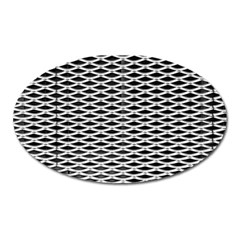 Expanded Metal Facade Background Oval Magnet