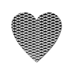 Expanded Metal Facade Background Heart Magnet