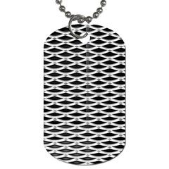 Expanded Metal Facade Background Dog Tag (two Sides)
