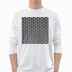 Expanded Metal Facade Background White Long Sleeve T-Shirts