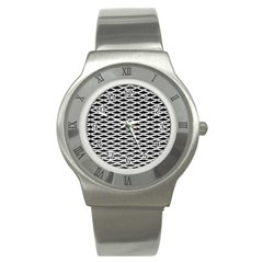 Expanded Metal Facade Background Stainless Steel Watch