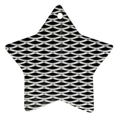 Expanded Metal Facade Background Star Ornament (Two Sides)