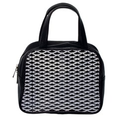 Expanded Metal Facade Background Classic Handbags (one Side)