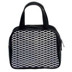 Expanded Metal Facade Background Classic Handbags (2 Sides)