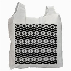 Expanded Metal Facade Background Recycle Bag (one Side)