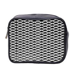 Expanded Metal Facade Background Mini Toiletries Bag 2-Side