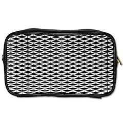 Expanded Metal Facade Background Toiletries Bags 2 Side
