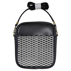 Expanded Metal Facade Background Girls Sling Bags