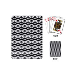 Expanded Metal Facade Background Playing Cards (Mini)