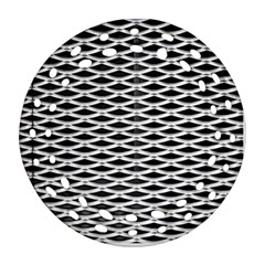 Expanded Metal Facade Background Round Filigree Ornament (Two Sides)