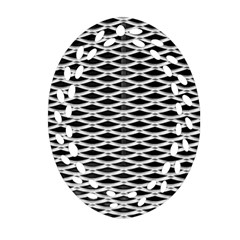 Expanded Metal Facade Background Ornament (oval Filigree)