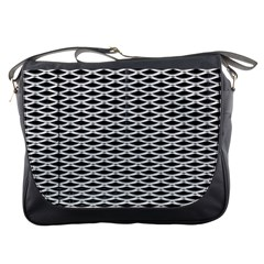 Expanded Metal Facade Background Messenger Bags