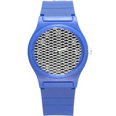 Expanded Metal Facade Background Round Plastic Sport Watch (s)