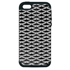 Expanded Metal Facade Background Apple iPhone 5 Hardshell Case (PC+Silicone)