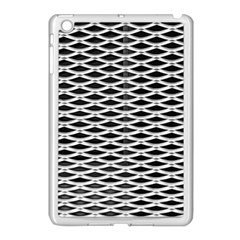 Expanded Metal Facade Background Apple Ipad Mini Case (white)