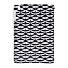 Expanded Metal Facade Background Apple iPad Mini Hardshell Case (Compatible with Smart Cover)
