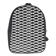 Expanded Metal Facade Background School Bags (xl)