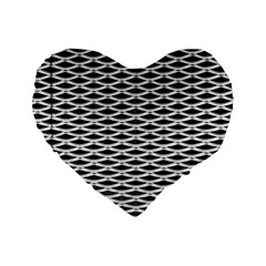Expanded Metal Facade Background Standard 16  Premium Heart Shape Cushions