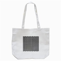 Expanded Metal Facade Background Tote Bag (white)