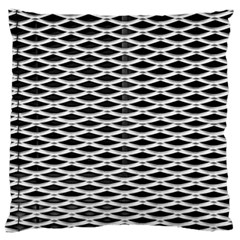 Expanded Metal Facade Background Large Flano Cushion Case (One Side)