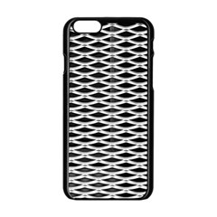 Expanded Metal Facade Background Apple Iphone 6/6s Black Enamel Case