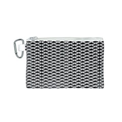 Expanded Metal Facade Background Canvas Cosmetic Bag (S)