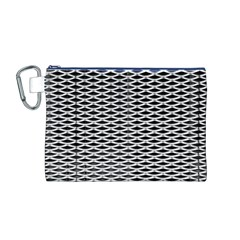 Expanded Metal Facade Background Canvas Cosmetic Bag (m)