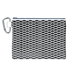 Expanded Metal Facade Background Canvas Cosmetic Bag (l)