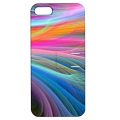 Rainbow Feather Apple iPhone 5 Hardshell Case with Stand