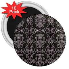 Line Geometry Pattern Geometric 3  Magnets (10 pack)