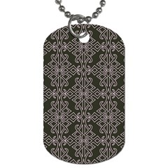Line Geometry Pattern Geometric Dog Tag (Two Sides)