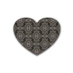 Line Geometry Pattern Geometric Rubber Coaster (Heart)