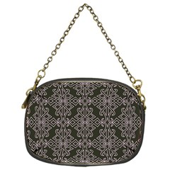 Line Geometry Pattern Geometric Chain Purses (One Side)